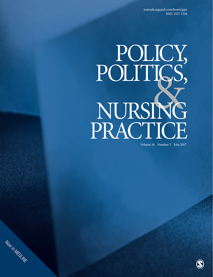 Policy, Politics & Nursing Practice journal cover image
