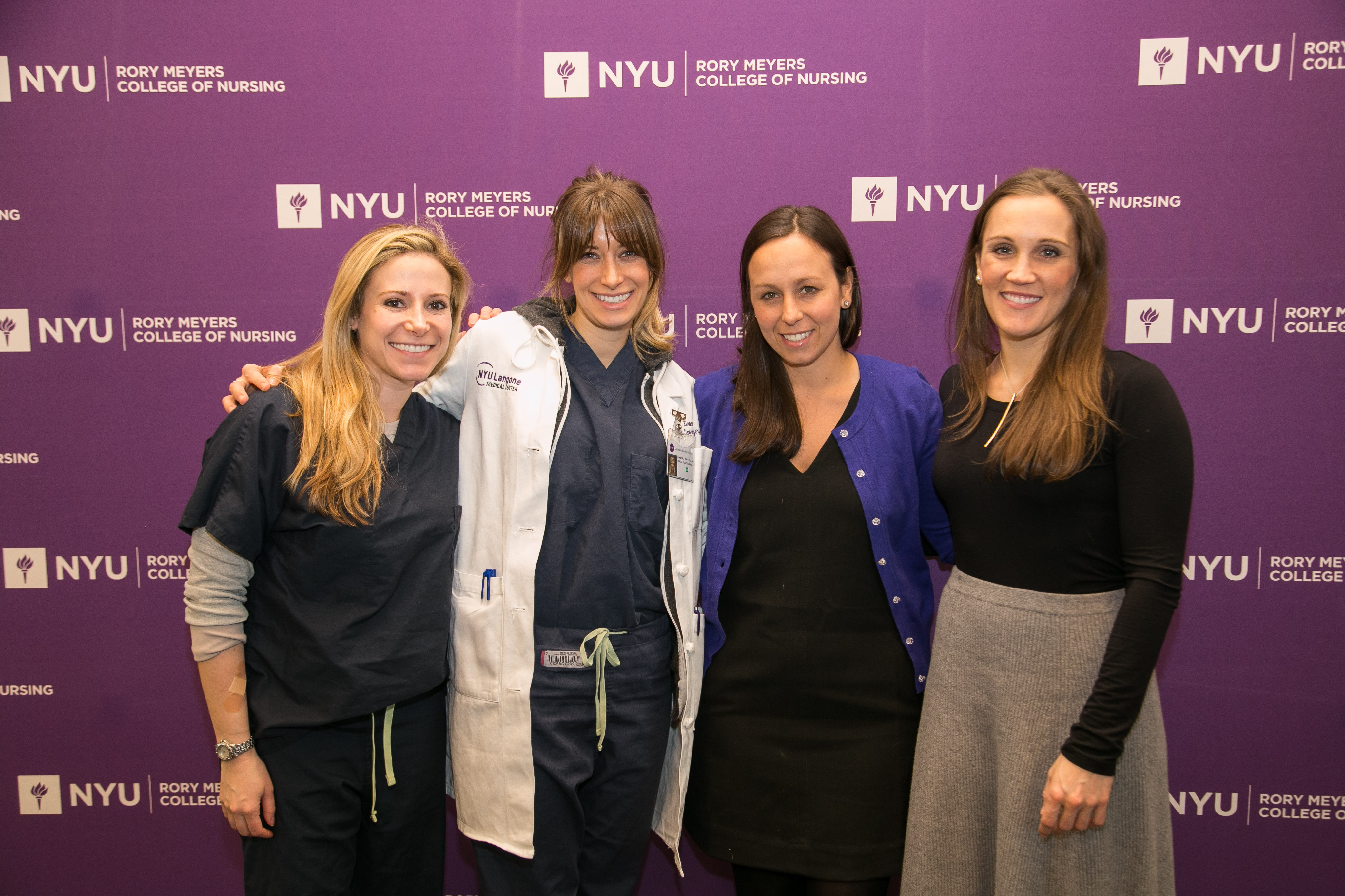 NYU Meyers Alumni at networking event