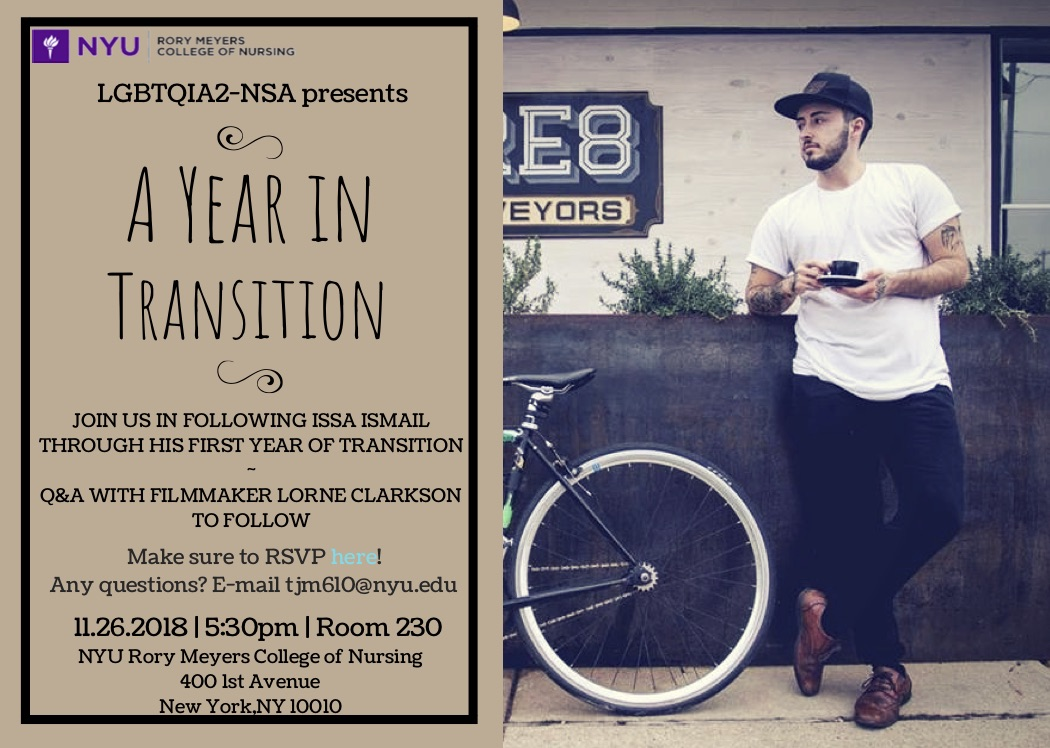A Year of Transition film screening poster
