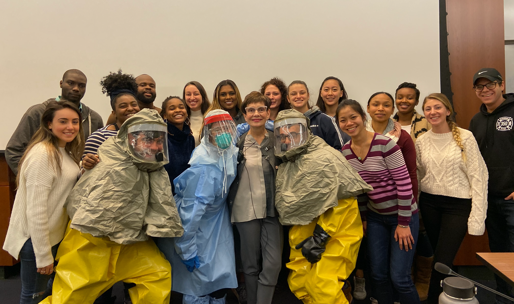 Bucco with her Disaster Nursing students