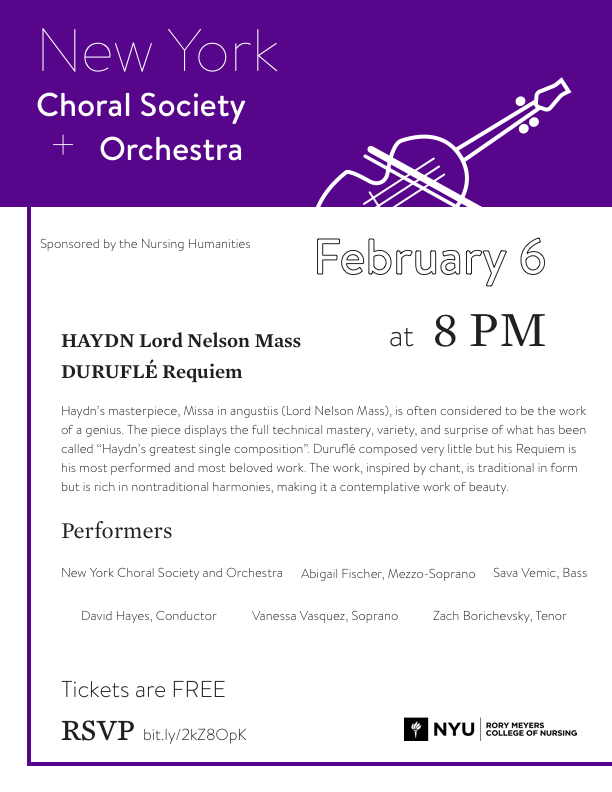 NY Choral Society and orchestra poster