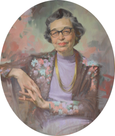 Painted portrait of Martha Rogers