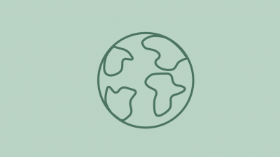 icon of globe on green background
